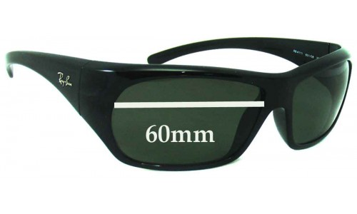 Sunglass Fix Replacement Lenses for Ray Ban RB4111 - 60mm Wide