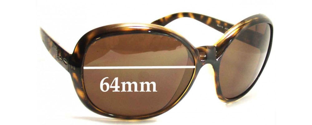 Ray Ban RB4113 Jackie Ohh III Replacement Sunglass Lenses - 64mm Wide lenses