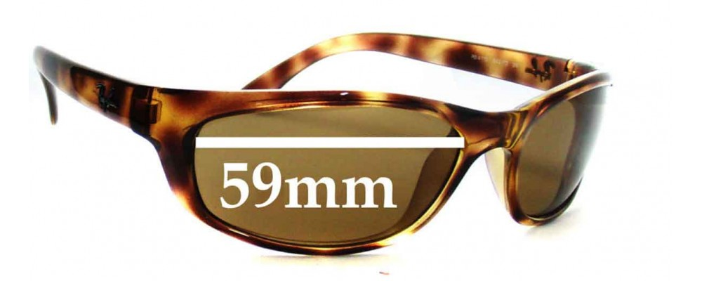 5a7f840027 Ray Ban RB4115 Replacement Sunglass Lenses - 59mm wide