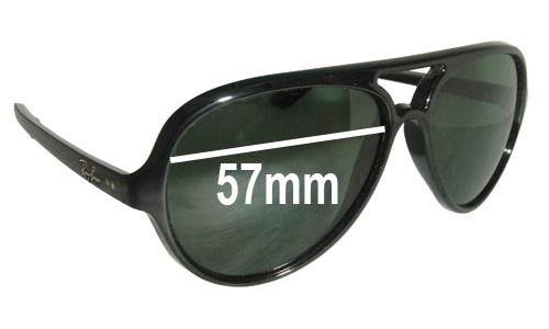 Ray Ban RB4125 Cats 5000 Replacement Sunglass Lenses - 57mm Wide