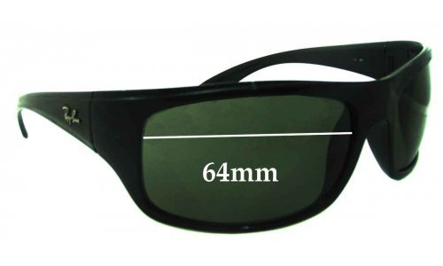 Ray Ban RB4149 Replacement Sunglass Lenses - 64mm Wide