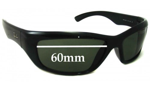 Ray Ban RB4160 Replacement Sunglass Lenses - 60mm across