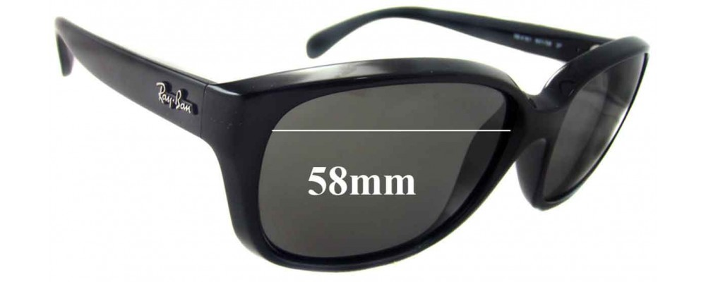 Ray Ban RB4161 Replacement Sunglass Lenses - 58mm wide