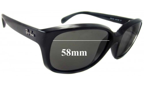 Ray Ban RB4161 New Sunglass Lenses - 58mm wide