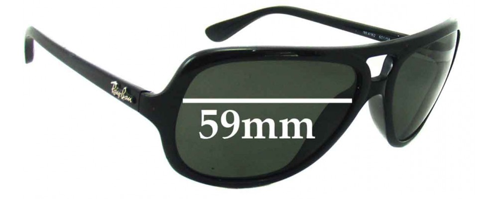 Ray Ban RB4162 Replacement Sunglass Lenses - 59mm wide