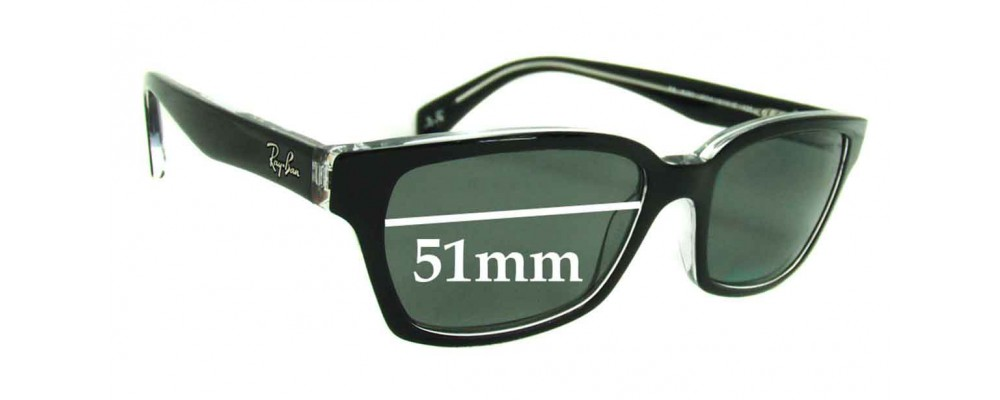 Ray Ban RB5280 Replacement Sunglass Lenses - 51mm wide lenses