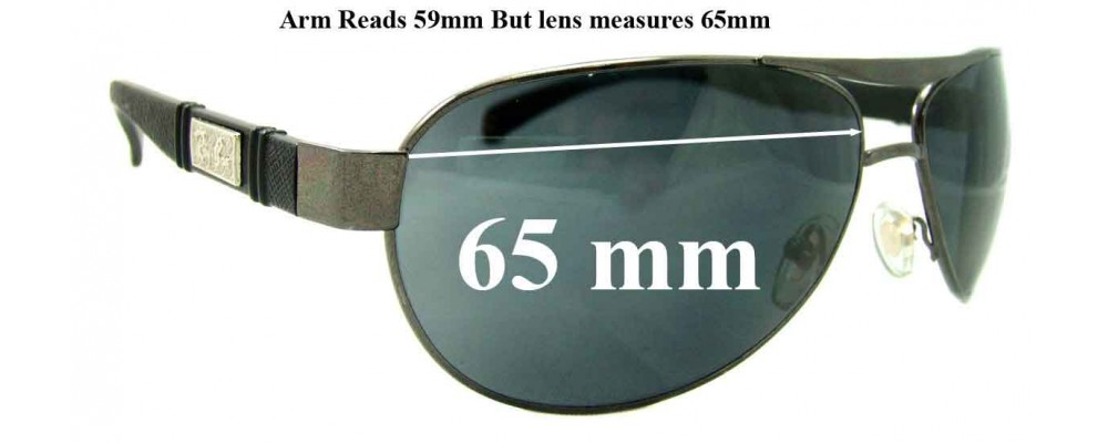 Ray Ban Aviators RB5313 Replacement Sunglass Lenses - 65mm Wide