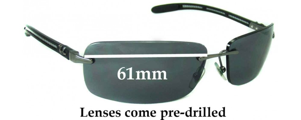 Ray Ban RB8304 Replacement Sunglass Lenses - 61mm Wide