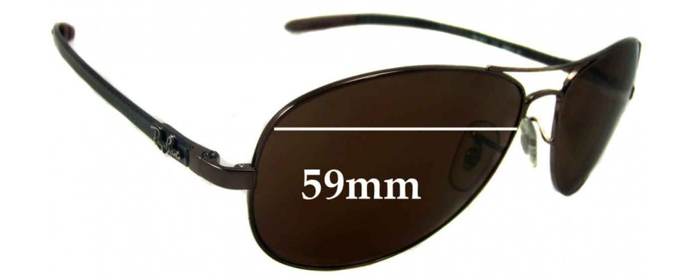 Ray Ban RB8301 Tech Replacement Sunglass Lenses - 59mm wide