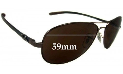 Sunglass Fix Replacement Lenses for Ray Ban RB8301 Tech - 59mm wide  *Please measure as there are several models*