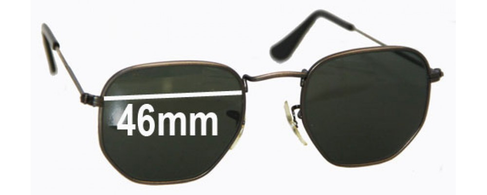 Sunglass Fix Replacement Lenses for Ray Ban W0973 Bausch Lomb - 46mm across