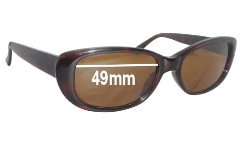 Ray Ban W3070 Rituals Replacement Sunglass Lenses - 49mm wide lenses