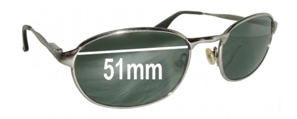 Sunglass Fix Replacement Lenses for Ray Ban W3078 Bausch Lomb - 51mm wide