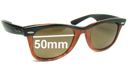 Sunglass Fix Replacement Lenses for Ray Ban Wayfarer B&L - 50mm wide