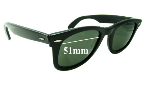 Sunglass Fix Replacement Lenses for Ray Ban Wayfarer Bausch Lomb - 51mm wide