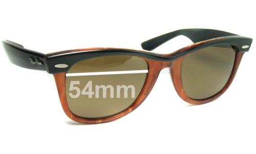 Sunglass Fix Replacement Lenses for Ray Ban Wayfarer Bausch Lomb USA 54mm Across