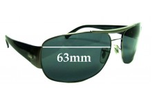 Ray Ban RB3357 Replacement Sunglass Lenses - 63mm wide