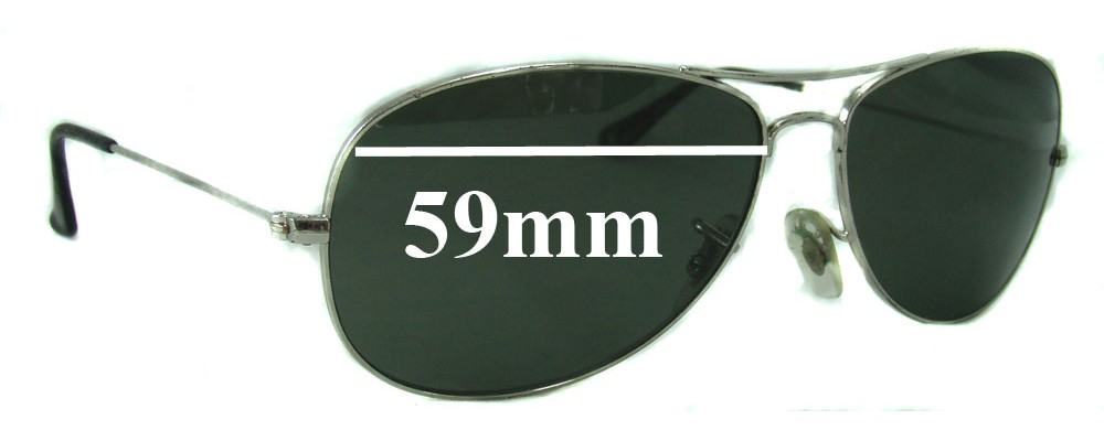 ray ban cockpit 0tic  Ray Ban Cockpit RB3362 Replacement Sunglass Lenses