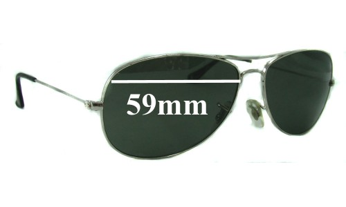 Sunglass Fix Replacement Lenses for Ray Ban Cockpit RB3362 - 59mm wide