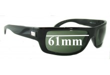 Ray Ban RB4052 Replacement Sunglass Lenses - 61mm Wide