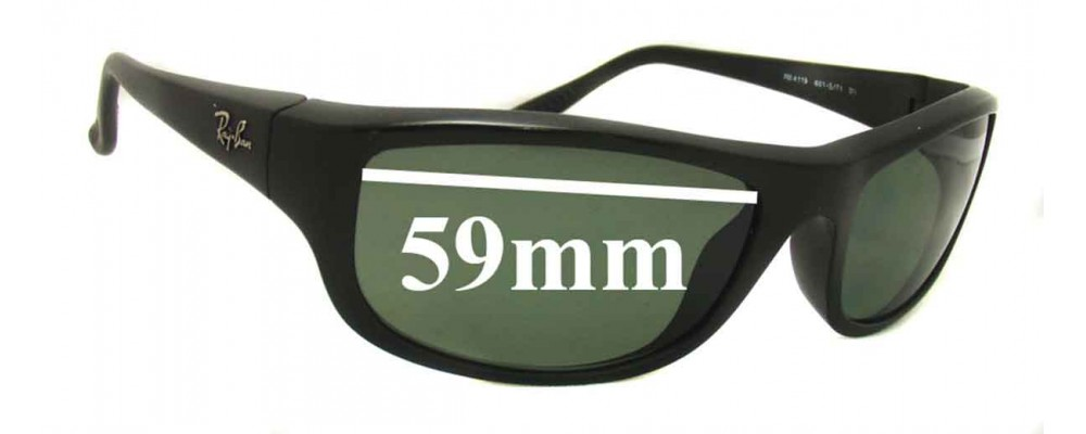 Ray Ban RB 4119 Replacement Sunglass Lenses - 59mm wide