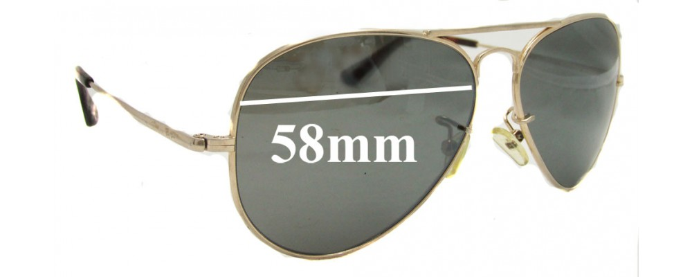 Ray Ban RB8029K Replacement Sunglass Lenses - 58mm wide