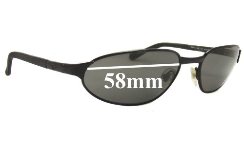 Ray Ban RAM1551AA Replacement Sunglass Lenses - 58mm wide