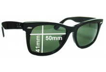 """Ray Ban RB2140 New Wayfarer Outsider Replacement Sunglass Lenses 50mm (Rare Model. The words """"NEW WAYFARER"""" appear on the right arm)"""