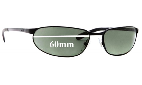 Ray Ban Flight RB3176 Replacement Sunglass Lenses - 60mm Wide
