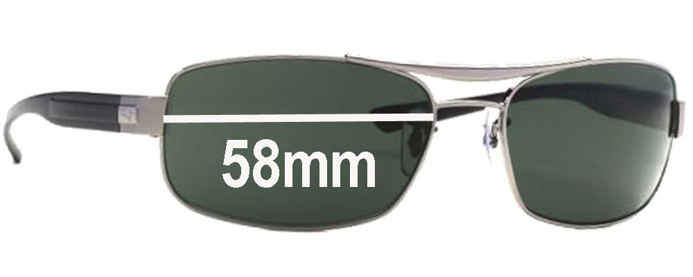 Ray Ban RB 3302 Replacement Sunglass Lenses - 58mm Wide