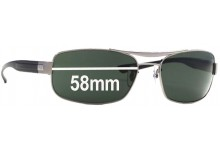 86d1c2ac40 Sunglass Fix New Replacement Lenses for Ray Ban RB 3302 - 58mm Wide