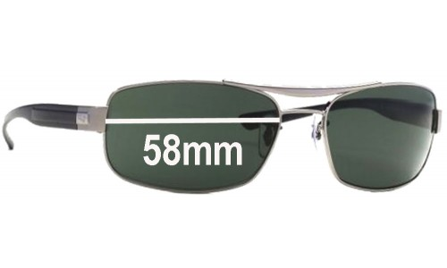 Sunglass Fix Replacement Lenses for Ray Ban RB 3302 - 58mm Wide