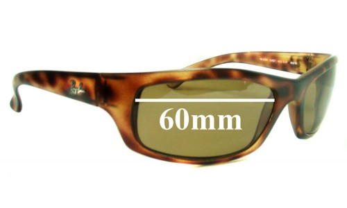 Ray Ban RB4026 Shot Square Replacement Sunglass Lenses - 60mm wide lenses