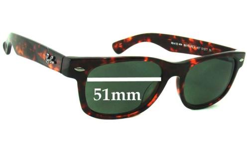 Ray Ban RB4105 New Wayfarer Replacement Sunglass Lenses - 51mm wide