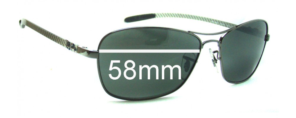 rb8302  Ban Tech RB8302 Replacement Sunglass Lenses - 58mm wide