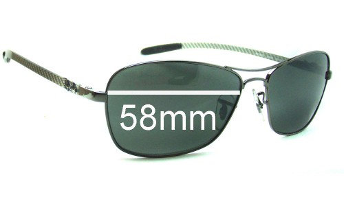 Ray Ban Tech RB8302 Replacement Sunglass Lenses - 58mm wide