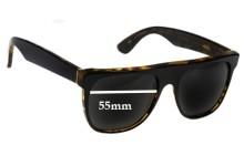 Retro Super Future Flat Top Wayfarers Replacement Sunglass Lenses - 55mm Wide