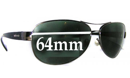 Revo 3062 Replacement Sunglass Lenses - 64MM WIDE