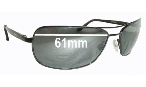 Revo 3075 Replacement Sunglass Lenses - 61mm wide