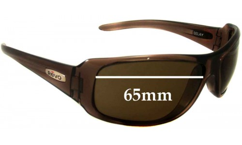Revo Belay RE4038 Replacement Sunglass Lenses - 65mm Wide