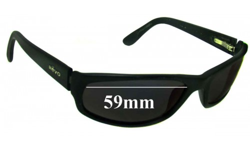 Revo Unknown Model New Sunglass Lenses - 59mm Wide