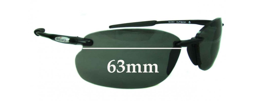 7949310701 Sunglass Fix Replacement Lenses for Revo 4045 Cutbank - 63mm wide