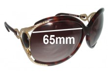 Roberto Cavalli Perla 443S Replacement Sunglass Lenses -65mm wide