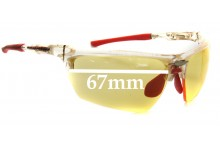 Rudy Project Noyz Replacement Sunglass Lenses - 67mm wide