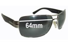 Salvatore Ferragamo 1170 Replacement Sunglass Lenses - 64mm wide