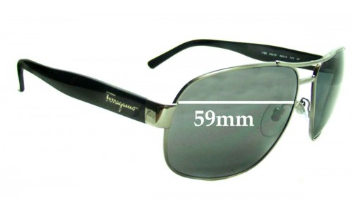 Salvatore Ferragamo 1185 Replacement Sunglass Lenses - 59mm Lenses