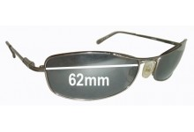 Sunglass Fix Replacement Lenses for Serengeti Lassen - 62mm wide