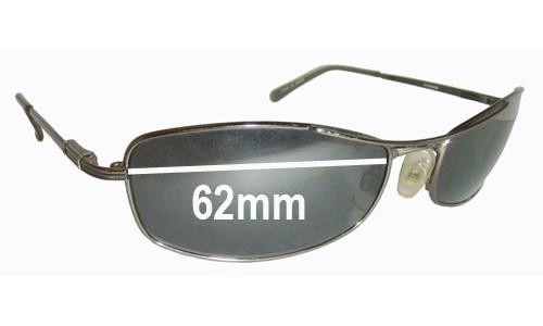 Serengeti Lassen All Models Replacement Sunglass Lenses- 62mm wide