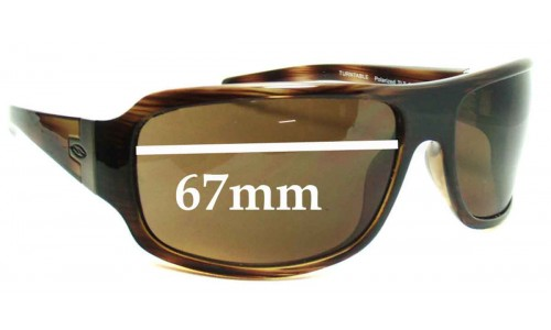 Smith Turntable Replacement Sunglass Lenses - 67mm Wide