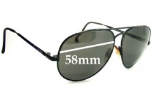 Spotters Aviator Replacement Sunglass Lenses - 58mm Wide